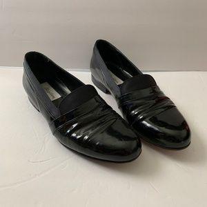 Mezlan Mirage Black Patent Leather Tuxedo Shoes